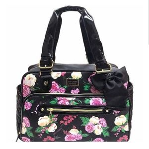 Betsey Johnson Be Mine Painted Floral Diaper Bag